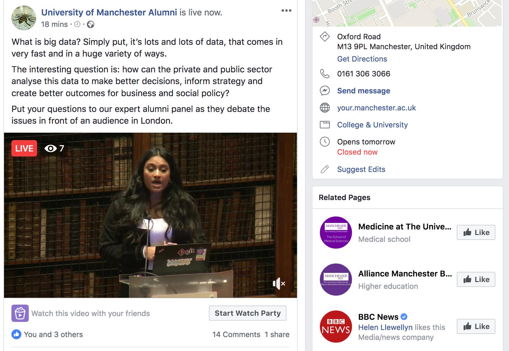 University_Of_Manchester_live_webcast